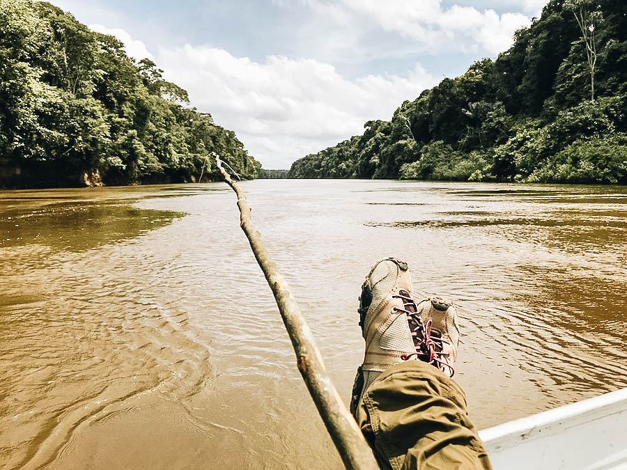A place in Guyana where you can go Piranha Fishing