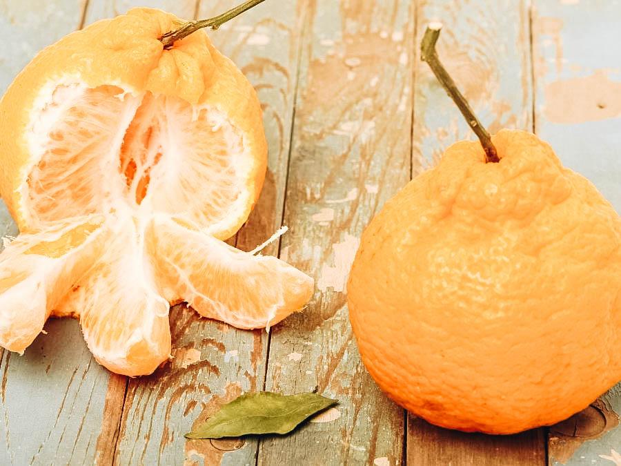 Ugli Fruits on a table