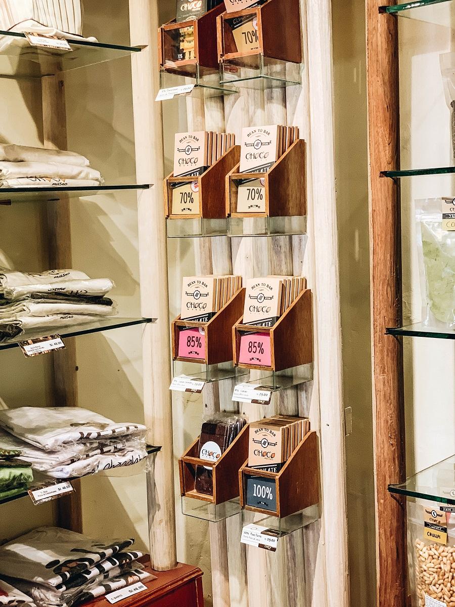 Chocolates added on the shelf of Choco Museo