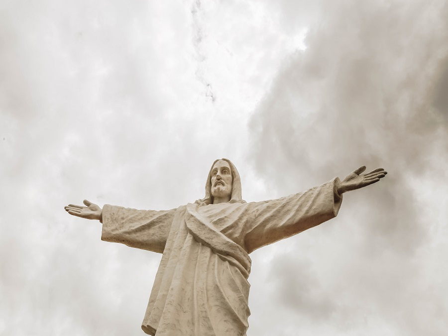 Statue of Jesus Christ at Cristo Blanco Cusco Peru