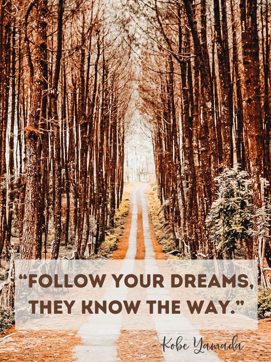"""""""Follow your dreams, they know the way."""""""