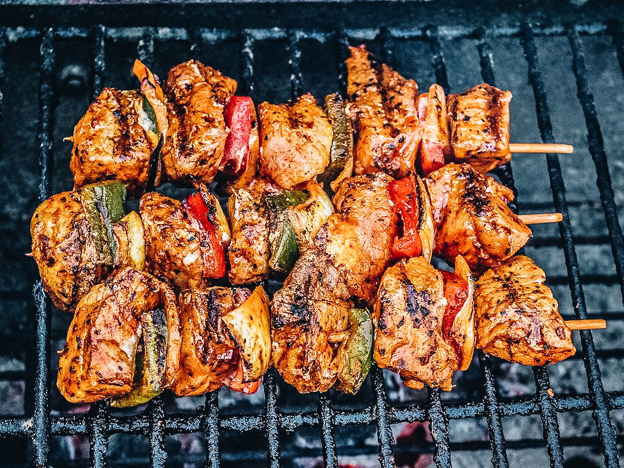 Moroccan Kebabs or Brochettes