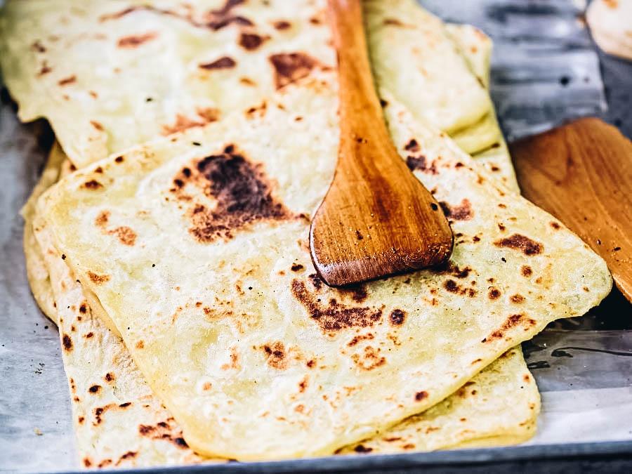 a traditional flatbread Msemen