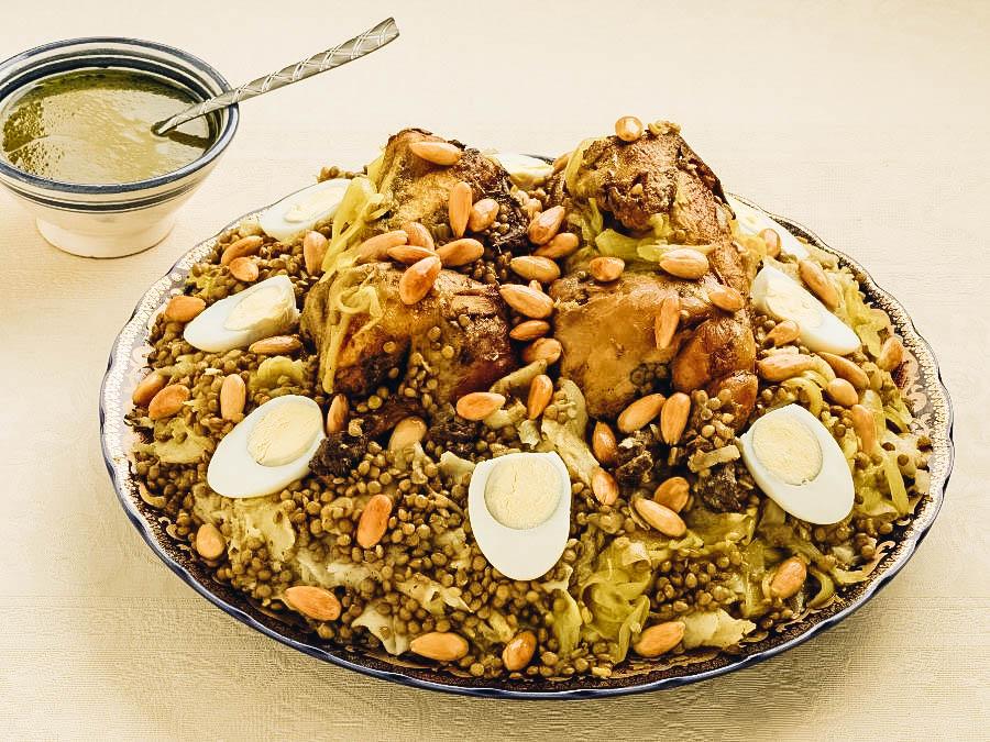 a Berber dish Rfissa