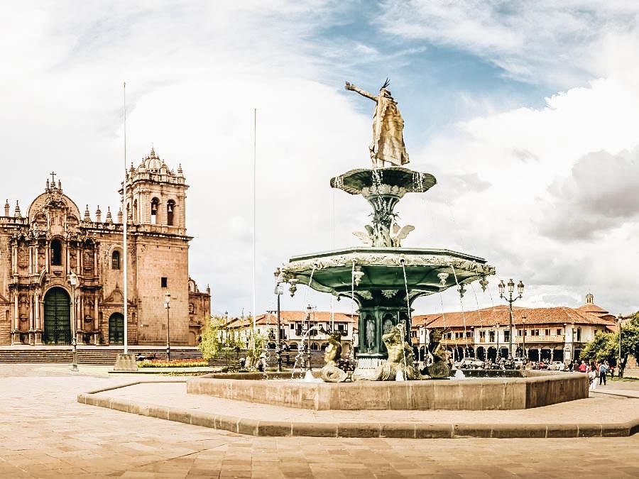 A view of Plaza de Armas