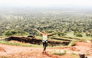 Annette on Sigiriya