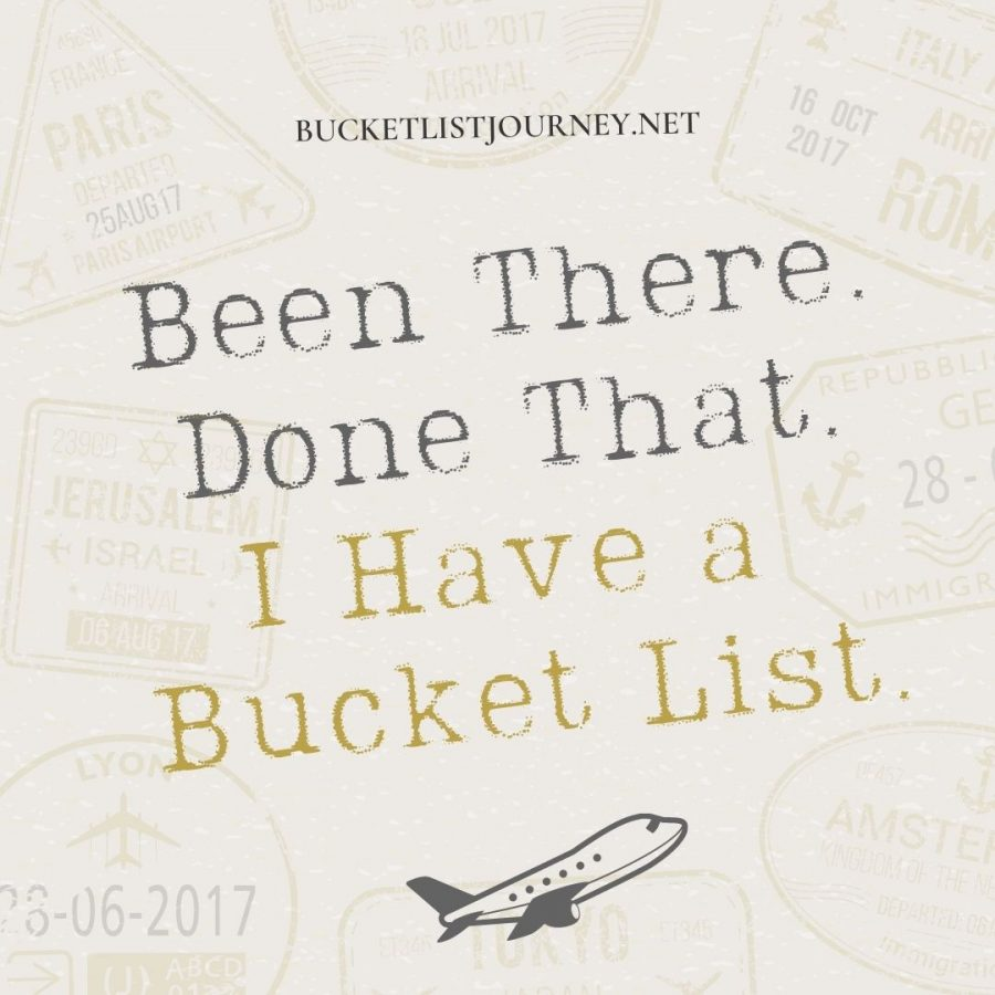 Been there. Done that. I have bucket list