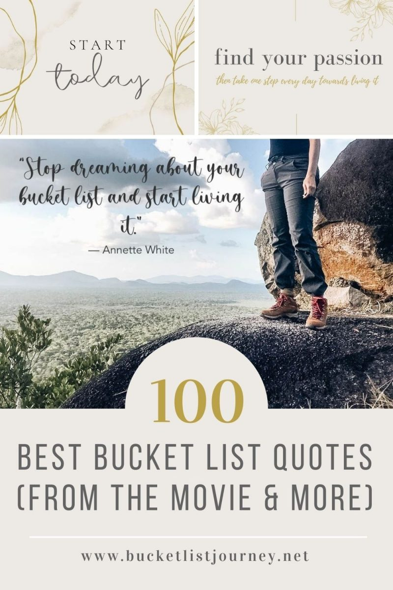 100 Best Bucket List Quotes (from the Movie & More)
