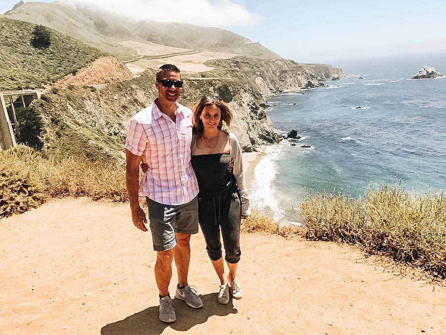 Annette and Peter near Big Sur