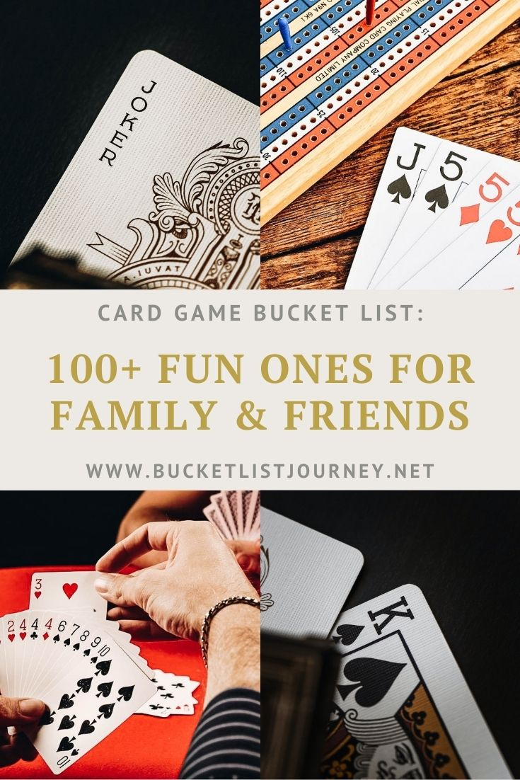 Card Game Bucket List: Classics, Popular & Easy Ones to Play with Family & Friends