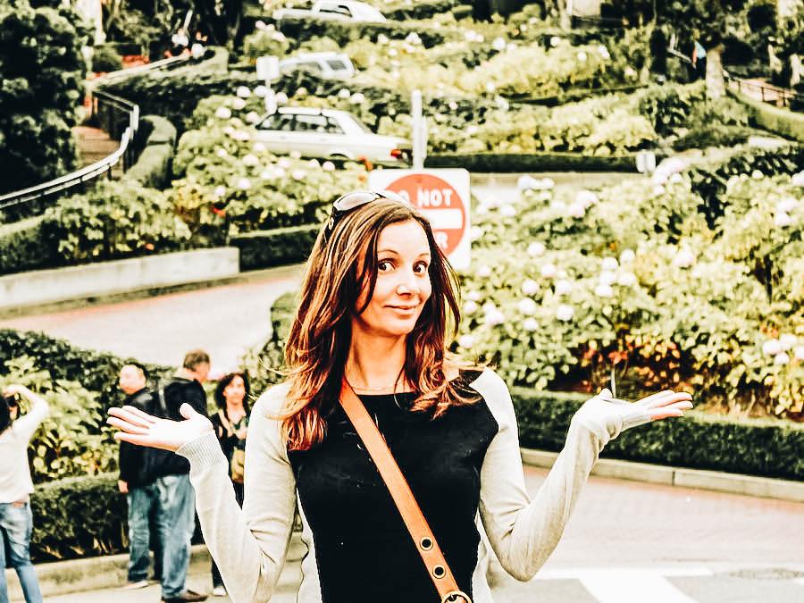 Annette on Lombard Street