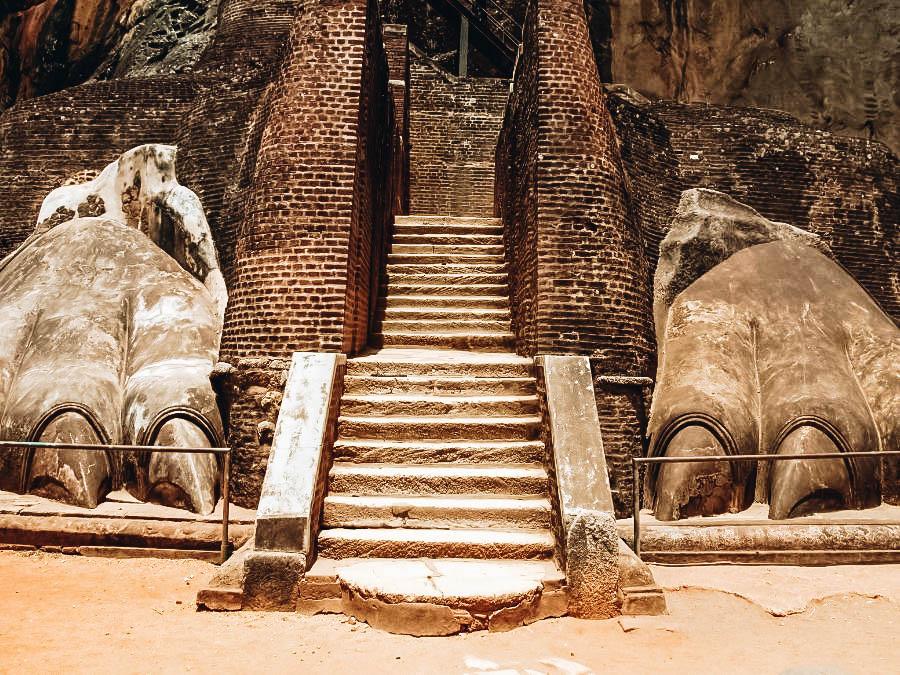 Lion staircase on Sigiriya