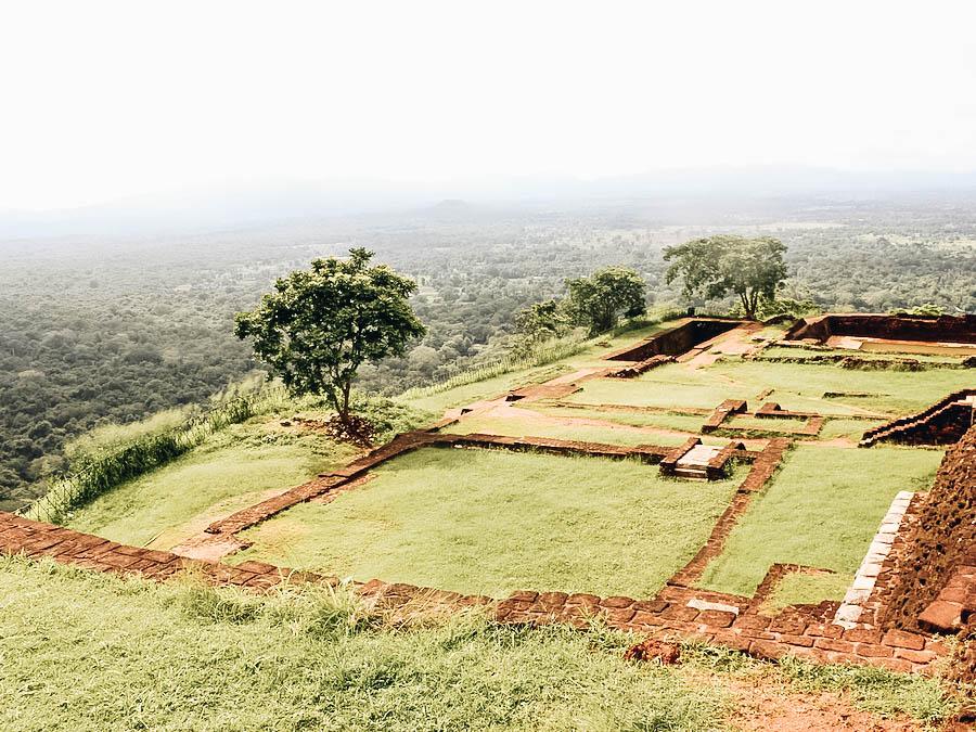 A view of the garden in Sigiriya