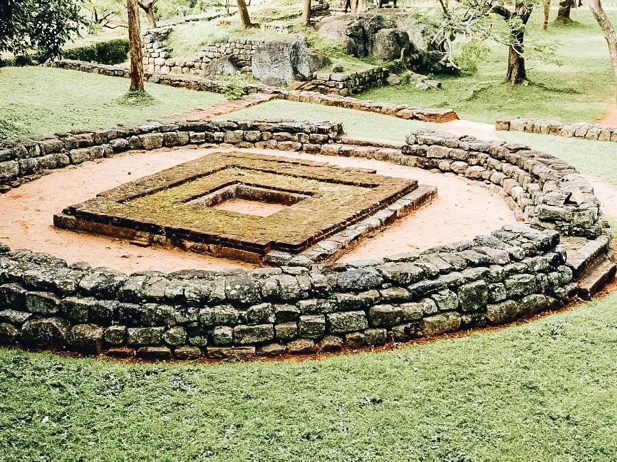 A photo of the garden in Sigiriya