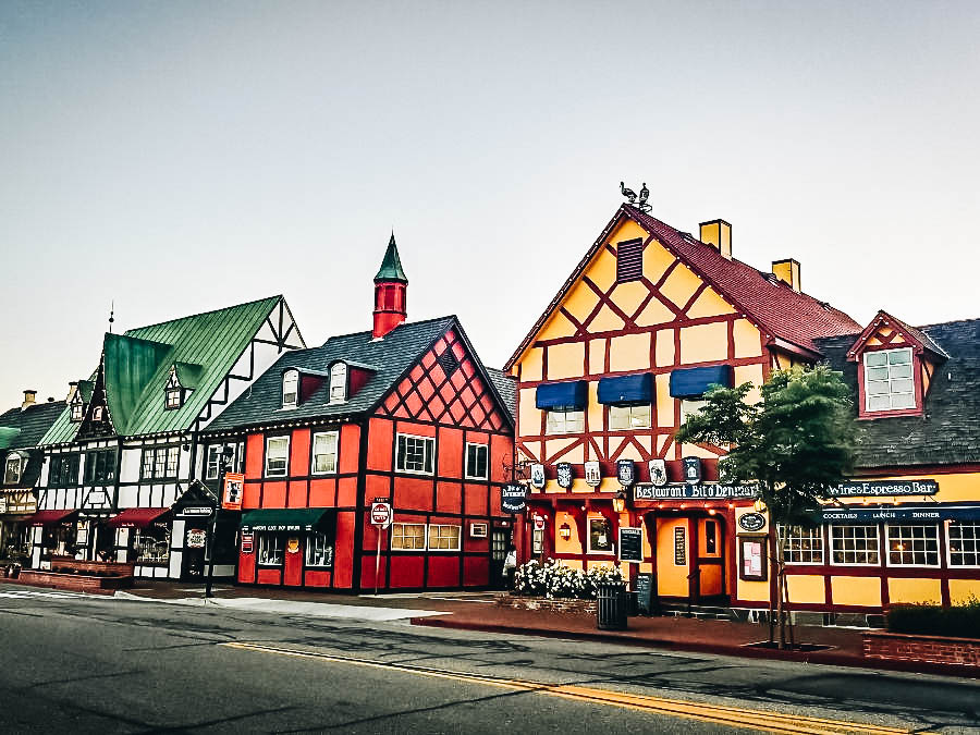 the colorful Danish Town Of Solvang
