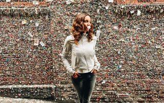Annette near Gum Wall