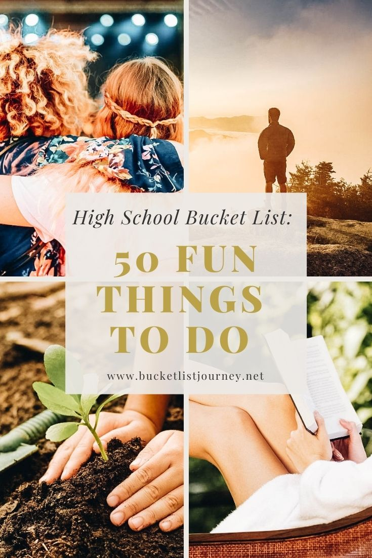 High School Bucket List of Fun Things to Do from Freshman to Senior Year