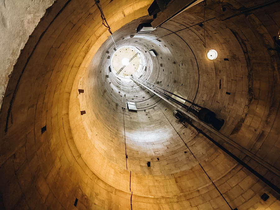 The inside of Leaning Tower of Pisa