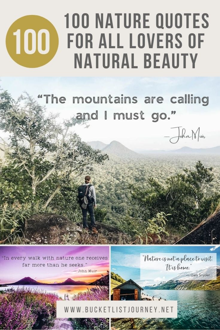 100 Nature Quotes for all Lovers of Natural Beauty