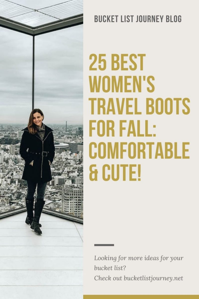 The Best Fall Travel Boots for Walking Women (Fashionable, Cute & Comfortable!)