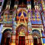 L'illumination at Notre Dame Cathedral Rouen