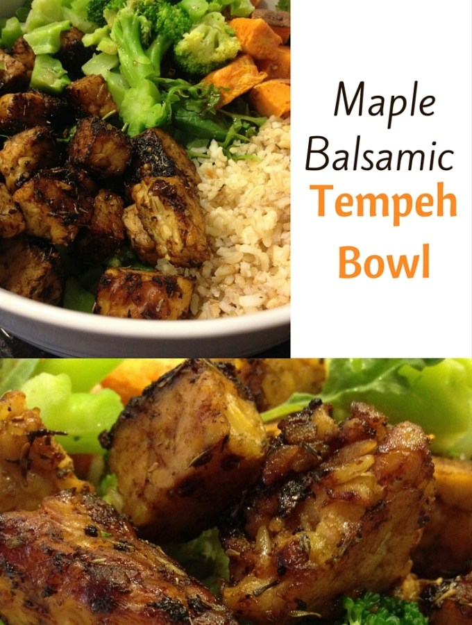Maple Balsamic Tempeh Bowl