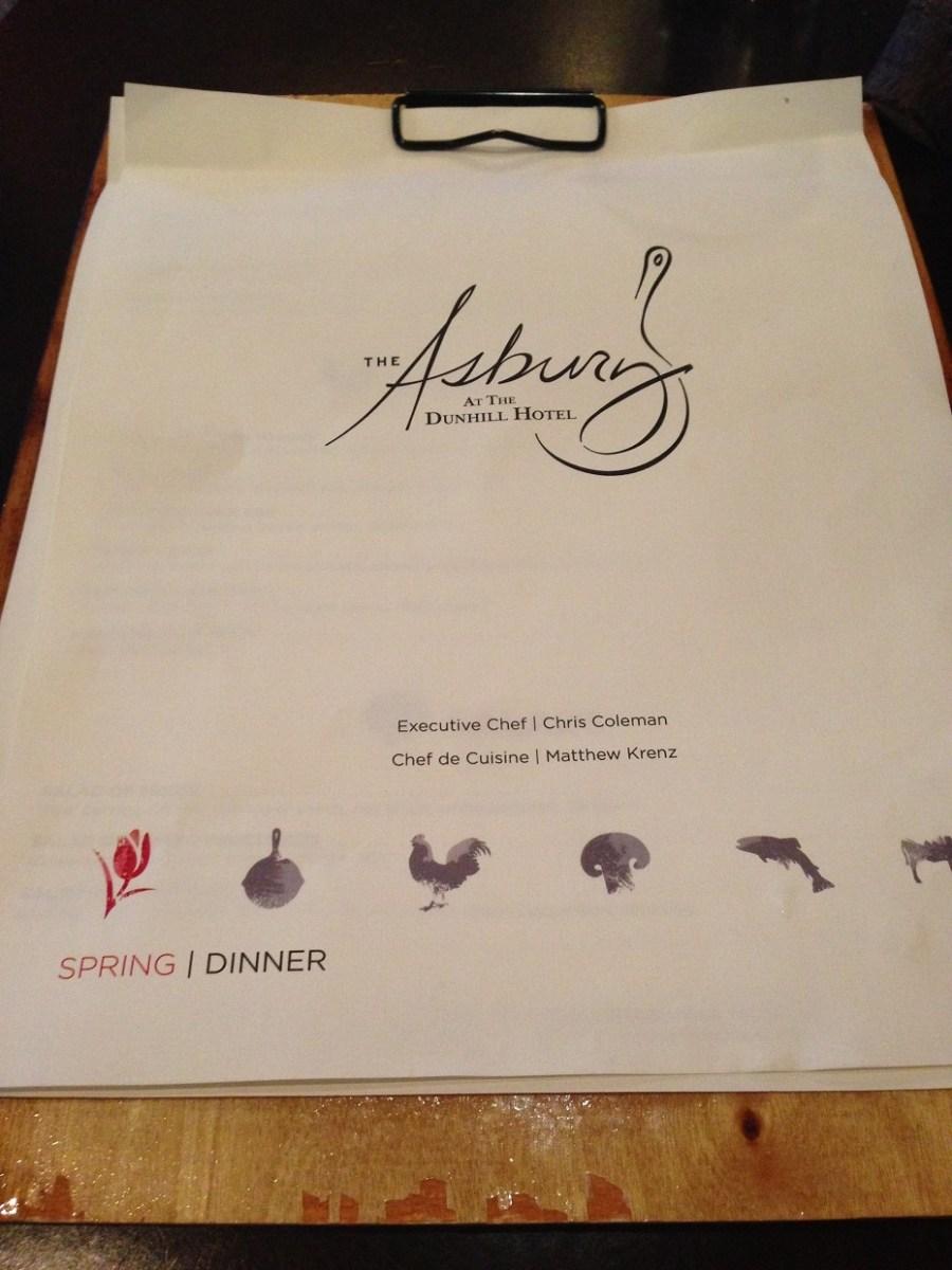 Asbury menu
