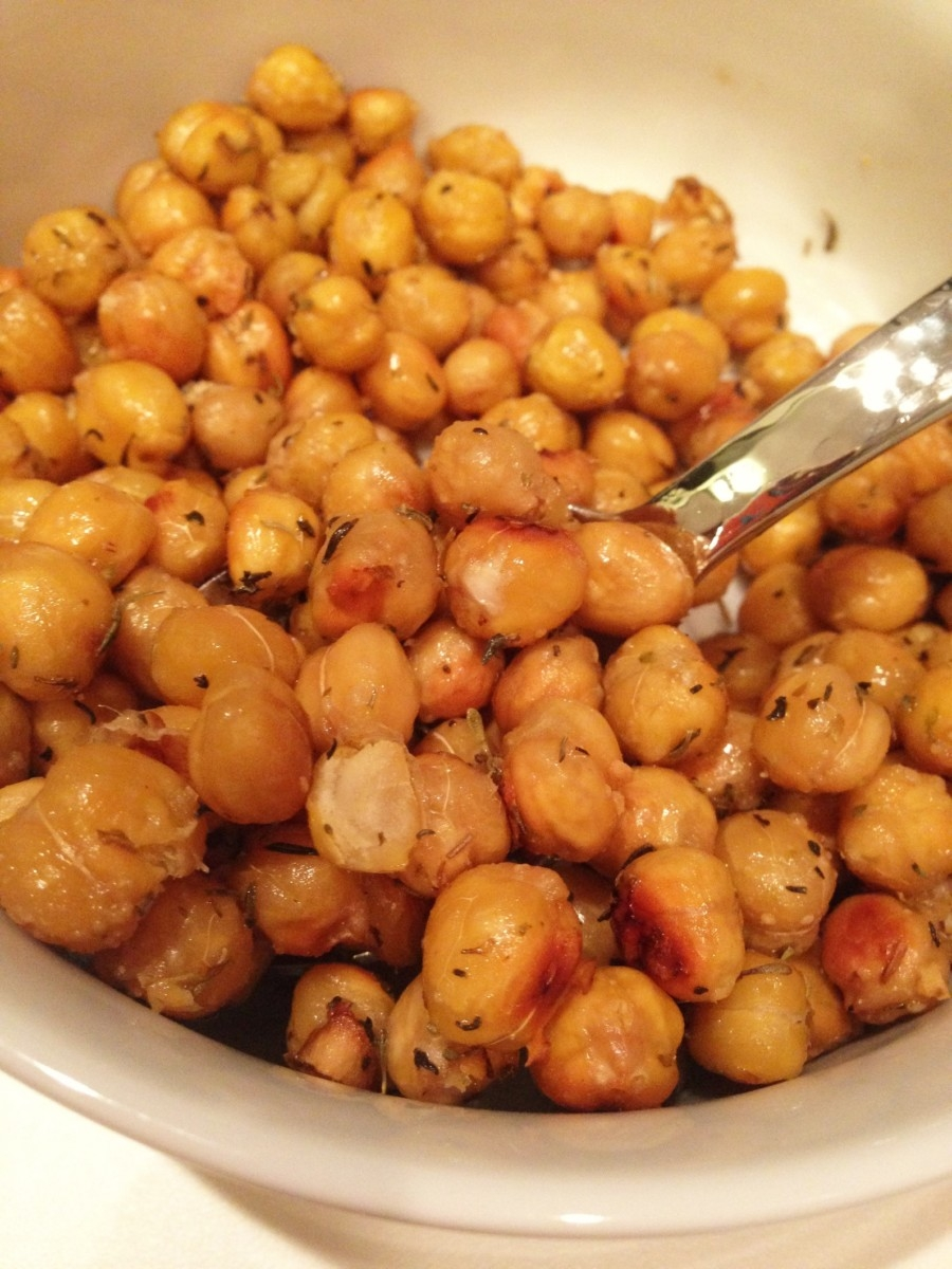 roasted chickpeas, getting enough protein