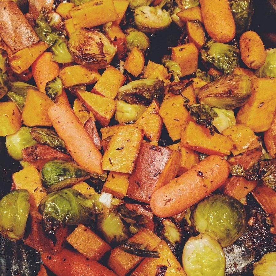 roasted veggies, save money on groceries