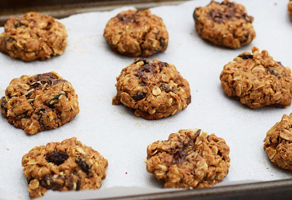 Oatmeal Raisin Peppermint Cookies