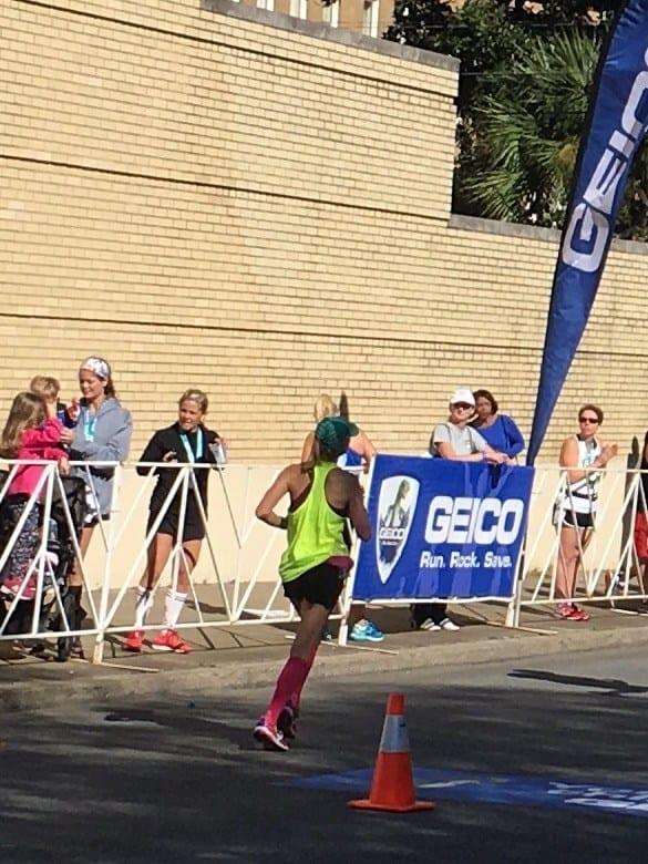 Running in Rock and Roll Marathon Savannah