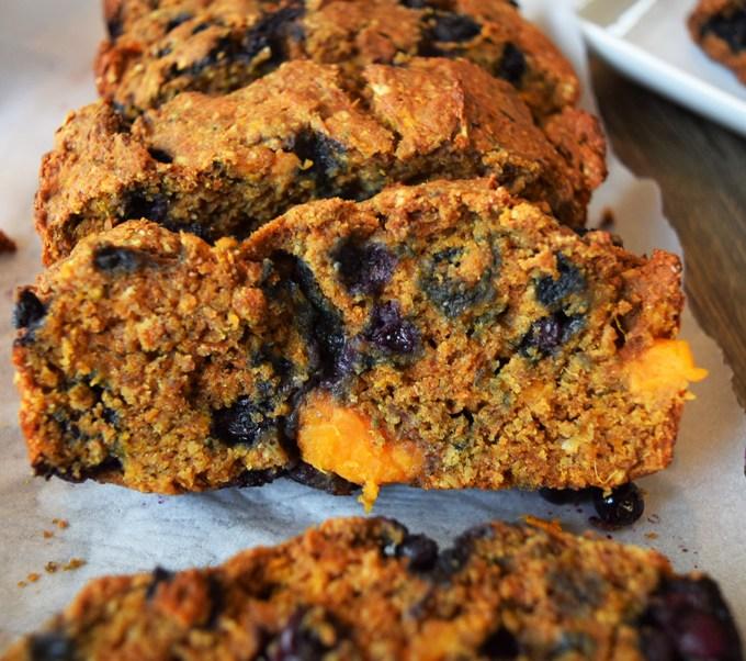 Wild Blueberry Sweet Potato Wheat Bread