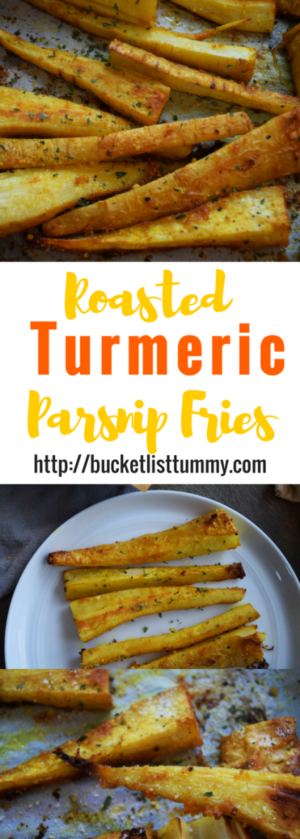 Looking for a fun, new way to use parsnips? These easy, healthy Roasted Turmeric Parsnip Fries are full of spice and flavor and ready in under 40 minutes