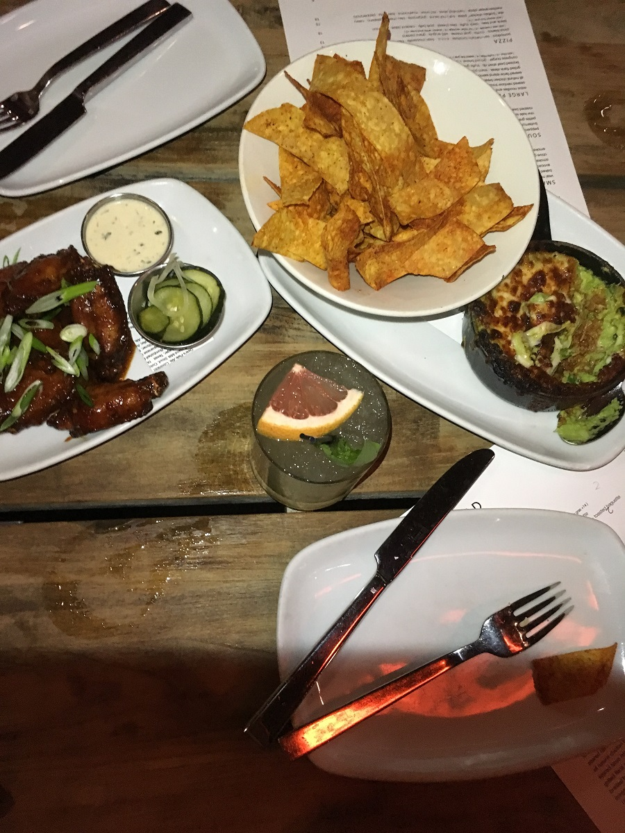 Crispy Wings and Avocado Cheese Dip at Second Kitchen and Bar