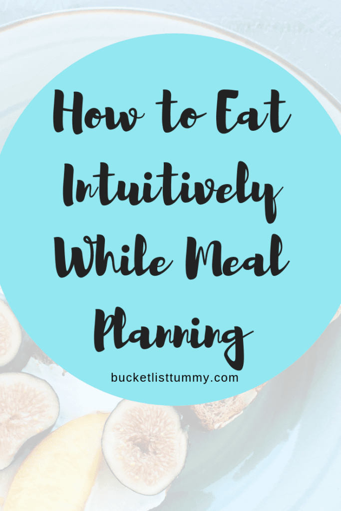 Can Meal Planning and Intuitive Eating Go Together?