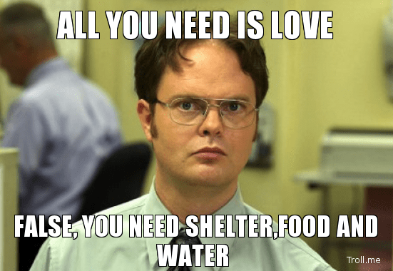 all-you-need-is-love-false-you-need-shelterfood-and-water