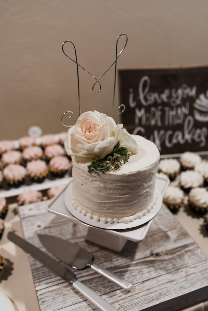 Our wedding carrot cake