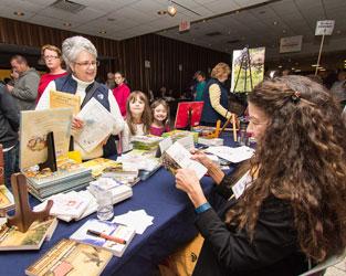 Author Dandi Daley Mackall at her 25th consecutive Buckeye Book Fair appearance!