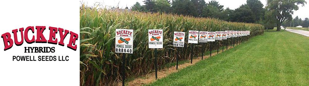 Buckeye Hybrids Plot Signs