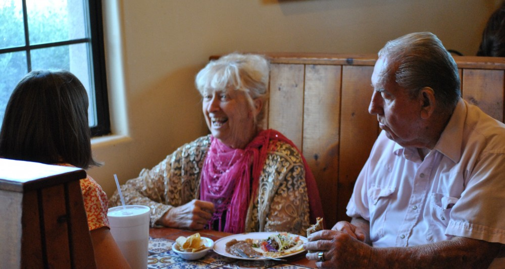 The photo above is Loretta Musgrave dining at the La Placita Café at the last Buckeye Main Street Coalition Spring Mixer.
