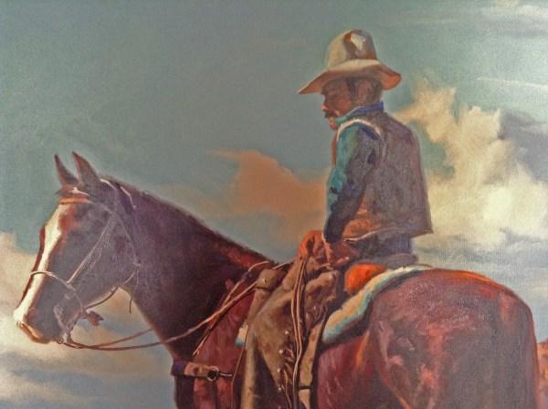 Western Cowboy Art Painting