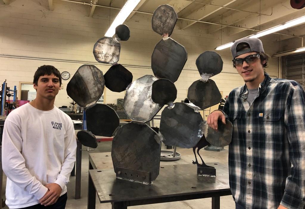 Anthony Miglio and Jonathan Celaya welding students at Buckeye Union High School