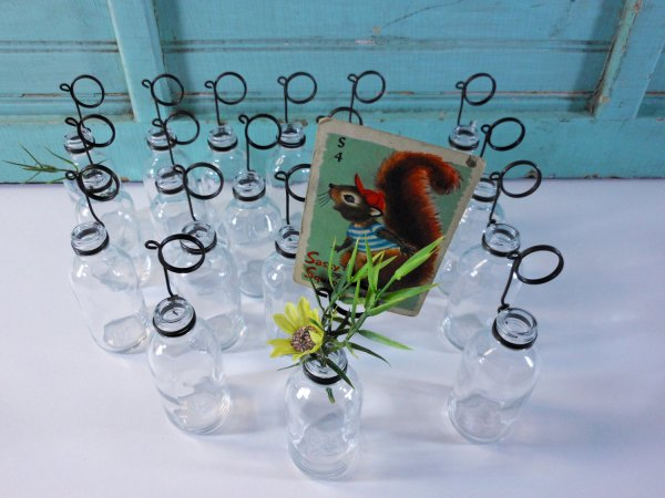 Twenty Clear Soda Glass Bottle Bud Vases and Photo Holders Place Card Holders – Buckeyes & Bluegrass