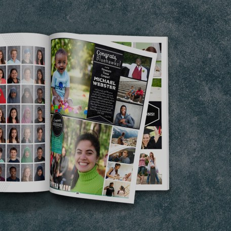 Open Yearbook With Grad Ads