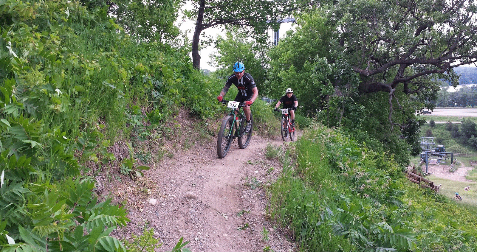Mountain biking at buck hill