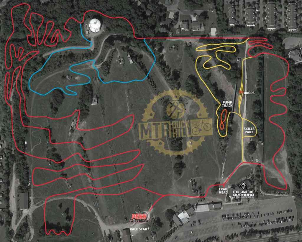 MTP Trail Map buck hill