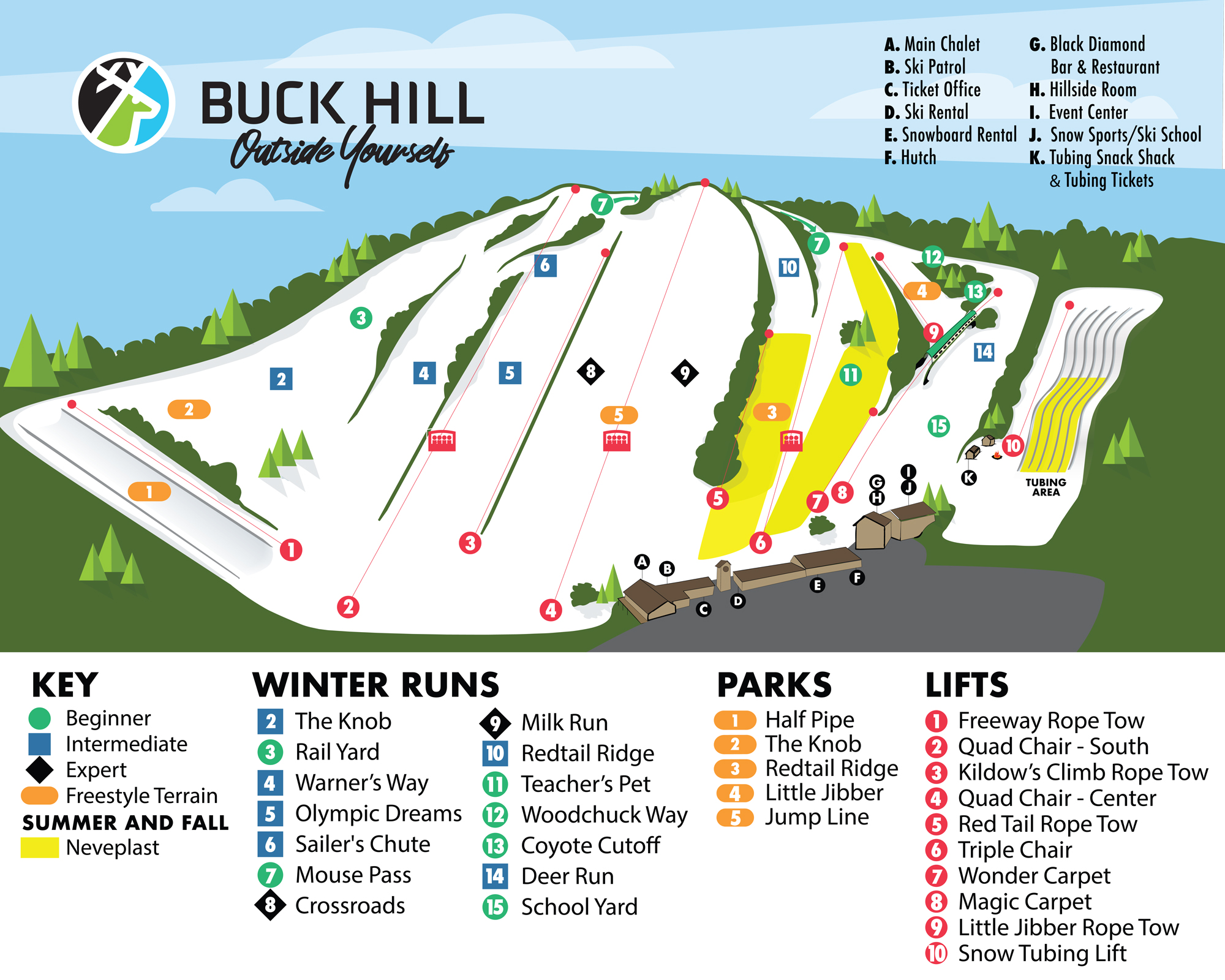 Buck Hill Trail Map 2019