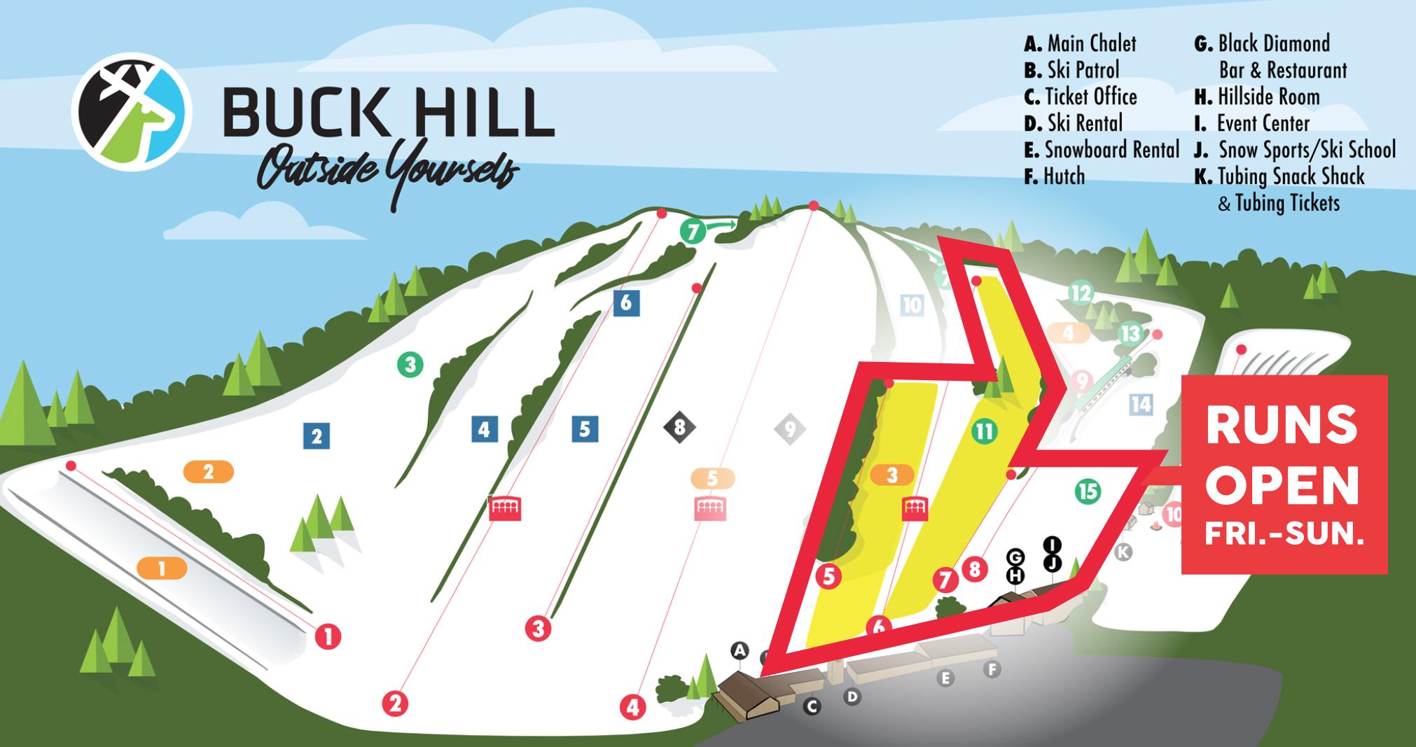 Open Runs at Buck Hill