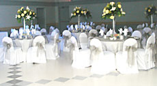 dinner tables for banquet held at BCC