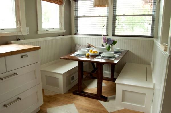 Kitchen Breakfast Nook with Storage Bench